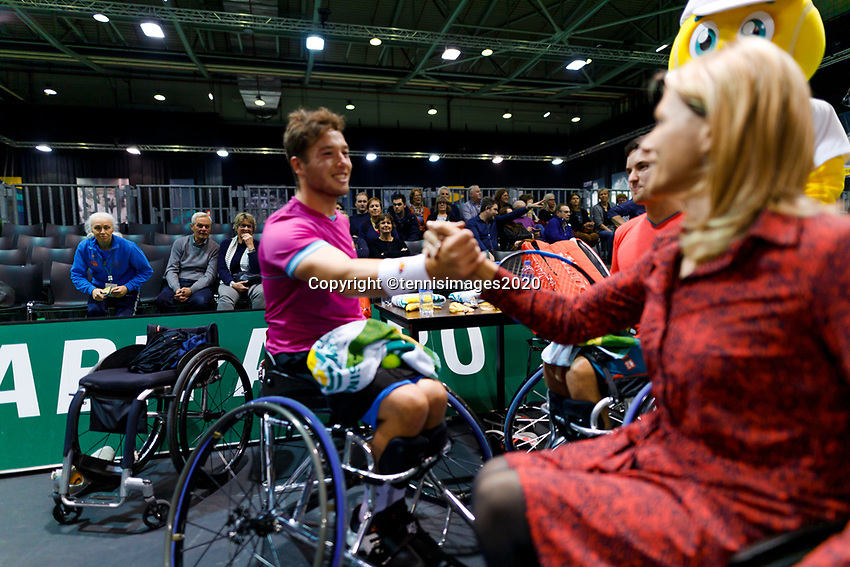 Rotterdam, The Netherlands, 14 Februari 2020, ABNAMRO World Tennis Tournament, Ahoy, <br /> Wheelchair Doubles: Alfie Hewett (GBR) and Gordon Reid (GBR).<br /> Photo: www.tennisimages.com