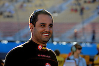 Nov. 7, 2008; Avondale, AZ, USA; NASCAR Sprint Cup Series driver Juan Pablo Montoya during qualifying for the Checker Auto Parts 500 at Phoenix International Raceway. Mandatory Credit: Mark J. Rebilas-
