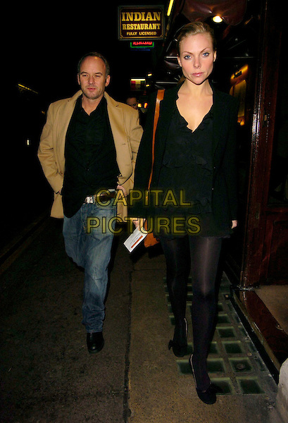 "SAMANTHA JANUS & GUEST.""Guys & Dolls"" VIP Performance, Picadilly Theatre, London, UK..January 24th, 2007.full length black skirt top jacket jeans denim couple .CAP/CAN.©Can Nguyen/Capital Pictures"