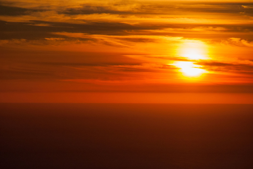 Sunset from Plaskett Ridge, Los Padres National Forest, Big Sur, California, US