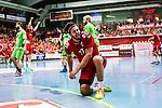 Eskilstuna 2014-05-12 Handboll SM-semifinal 3 Eskilstuna Guif - Alings&aring;s HK :  <br /> Eskilstuna Guif Helge Freiman jublar efter att ha gjort ett m&aring;l i den andra halvleken<br /> (Foto: Kenta J&ouml;nsson) Nyckelord:  Eskilstuna Guif Sporthallen Alings&aring;s AHK SM Semifinal Semi jubel gl&auml;dje lycka glad happy