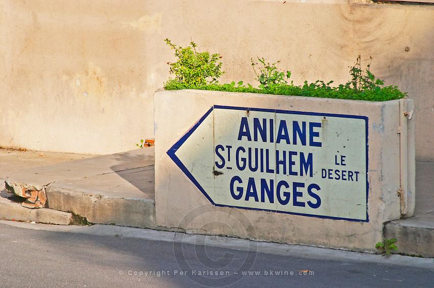 Near Gignac. Aniane, St Guilhem le Desert, Ganges. Languedoc. France. Europe.