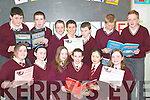 Book worms: Front l-r Aigneis Hitchen, Shauna Breen, Kitty Nolan, Ciara .McDonald, Orla Holly and Ciara Walsh. Back l-r Shane Kissane, Kevin Cooke, .Donie Falvey, Dale O'Sullivan, Shane Power, Gary Falvey and Rory Mulvihill .all enjoying the Reading Challenge presentation day at St Joseph's on .Thursday were pupils of St Joseph's National School and Scoil Pio Naofa.   Copyright Kerry's Eye 2008
