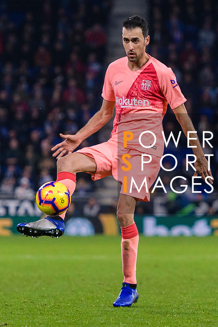 Sergio Busquets of FC Barcelona in action during the La Liga 2018-19 match between RDC Espanyol and FC Barcelona at Camp Nou on 08 December 2018 in Barcelona, Spain. Photo by Vicens Gimenez / Power Sport Images