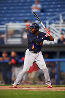 State College Spikes center fielder Anthony Ray (3) at bat during a game against the Batavia Muckdogs on June 23, 2016 at Dwyer Stadium in Batavia, New York.  State College defeated Batavia 8-4.  (Mike Janes/Four Seam Images)