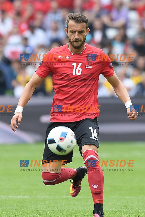 \Lens 11-06-2016 Stade Bollaert-Delelis Football  - Euro 2016 / Albania - Switzerland / foto Matteo Gribaudi/Image Sport/Insidefoto<br /> nella foto: Sokol Cikalleshi