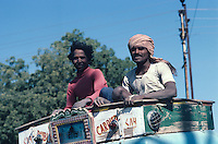 Portrait of workers on a truck