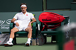 March 10, 2019: Roger Federer (SUI) defeated Peter Gojowczyk (GER) 6-1, 7-5 at the BNP Paribas Open at the Indian Wells Tennis Garden in Indian Wells, California. ©Mal Taam/TennisClix/CSM