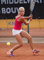 August 6, 2014, Netherlands, Rotterdam, TV Victoria, Tennis, National Junior Championships, NJK,  Nina Kruijer (NED)<br /> Photo: Tennisimages/Henk Koster