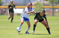 Irvine, CA - July 11, 2019: U.S. Soccer Girls' DA U-15 3rd Place FC Dallas vs Placer United Soccer Club at Great Park.
