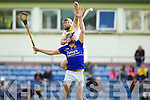 Pat Corridan Lixnaw in action against Michael O'Regan Kilmoyley in the County Senior Hurling final at Austin Stack Park on Saturday.