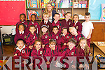 Mrs Ryans class pictured on their first day of school at Moyderwell primary, Tralee on Thursday, Front from left: Alaxzander Velzen, Ava Sharma, Patricia Balogova, Ruben Wall Griffin and Gagija Dackauskyte..Middle Row from Left: AyekaCouncil, Samuel Koky, Jasmine Conway, Nathan Sharma, Claudia Kennedy and Endijs Maurins..Back row from left: Aoife Hammed, Aisling Hammed, Shane O'Sullivan, Padraig Daly, Iga, Chlamtacz, Tola Golonek, Luke Enright.