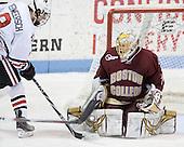 J.P. Maley (NU - 8), John Muse (BC - 1) - The Northeastern University Huskies defeated the Boston College Eagles 3-2 on Friday, February 19, 2010, at Matthews Arena in Boston, Massachusetts.