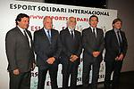 XIV Sopar Solidari de Nadal.<br /> Esport Solidari Internacional-ESI.<br /> Josep Maldonado &amp; Joan Soteras con otros directivos de la FCF.