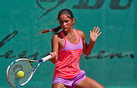 Netherlands, Dordrecht, August 03, 2015, Tennis,  National Junior Championships, NJK, TV Dash 35, Isabella Mujan<br /> Photo: Tennisimages/Henk Koster