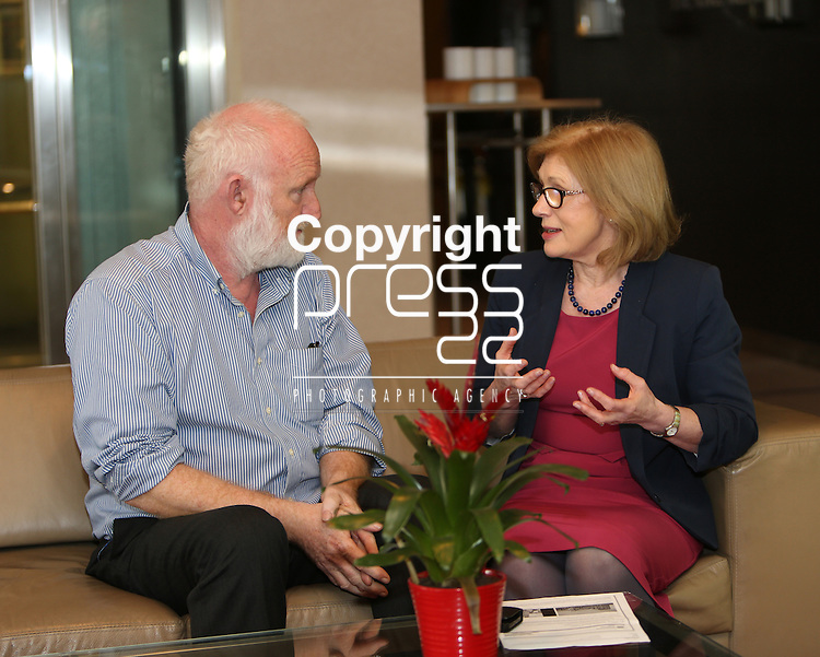11/4/2014        Story Kathryn Hayes.   Photographed at the National Planning Conference in the Strand Hotel, Limerick were  Conor Skehan, Chairman of the Housing Agency in conversation with Minister for Housing & Planning  Jan O'Sullivan, TD.  Picture Liam Burke/Press 22