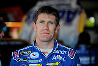 Apr 24, 2009; Talladega, AL, USA; NASCAR Sprint Cup Series driver Carl Edwards during practice for the Aarons 499 at Talladega Superspeedway. Mandatory Credit: Mark J. Rebilas-