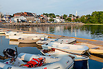 View of Damariscotta from the town pier in Damariscotta, Maine, USA