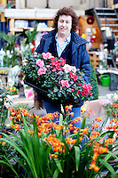 26/8/2011. Dublin Fruit and Vegetable Market. Denise Clarke Wholesale flowers and plants pictured  at the Dublin Fruit and Vegetable Market. for over 40 years. Picture James Horan/Collins Photos