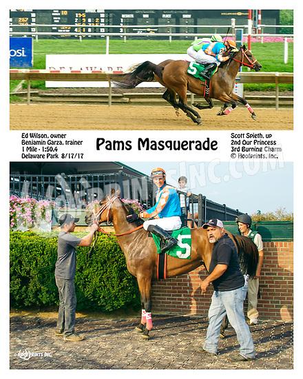 Pams Masquerade winning at Delaware Park on 8/17/17