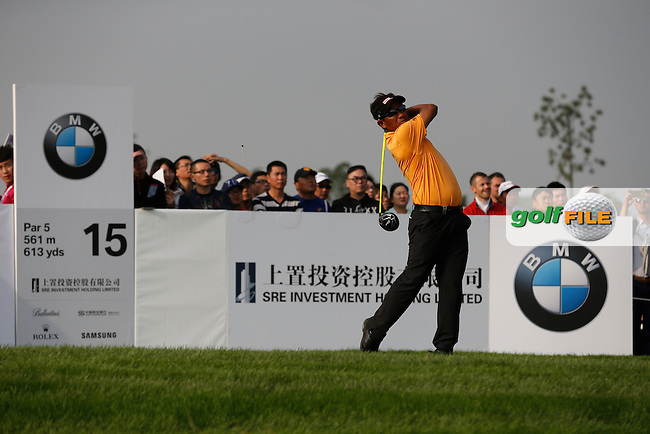 Thongchai Jaidee (THA) on the 15th during the final round of the BMW Masters, Lake Malarian Golf Club, Boshan, Shanghai, China.  15/11/2015.<br /> Picture: Golffile | Fran Caffrey<br /> <br /> <br /> All photo usage must carry mandatory copyright credit (&copy; Golffile | Fran Caffrey)