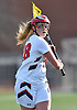 Erin Vaughan Ware #28 of MacArthur gets ready to shoot during a Nassau County varsity girls lacrosse game against Mepham at MacArthur High School on Monday, March 20, 2017. She tallied three goals and four assists. Her final goal drew her within one of the school's career record of 147 held by Candace Noakes. Vaughan Ware will have the opportunity to break that record during the Lady Generals' next game, which is scheduled for Saturday, March 25 10:00AM against Clarke at MacArthur High School.