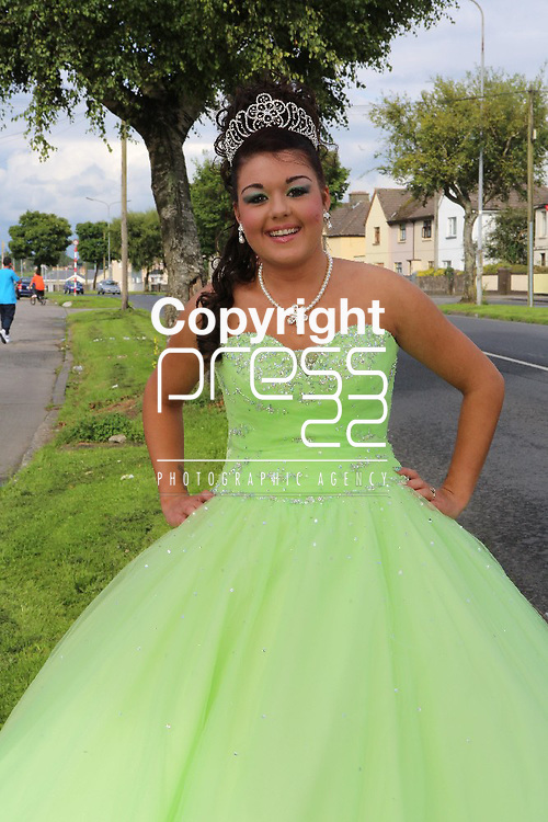 8/August/2012   Megan Collins(18), 35 Hyde road, Limerick going to the Scoil Carmel Debs. Photograph Liam Burke/Press 22