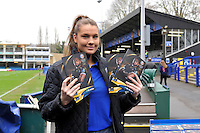 A general view of a matchday programme seller. European Rugby Champions Cup match, between Bath Rugby and RC Toulon on January 23, 2016 at the Recreation Ground in Bath, England. Photo by: Patrick Khachfe / Onside Images