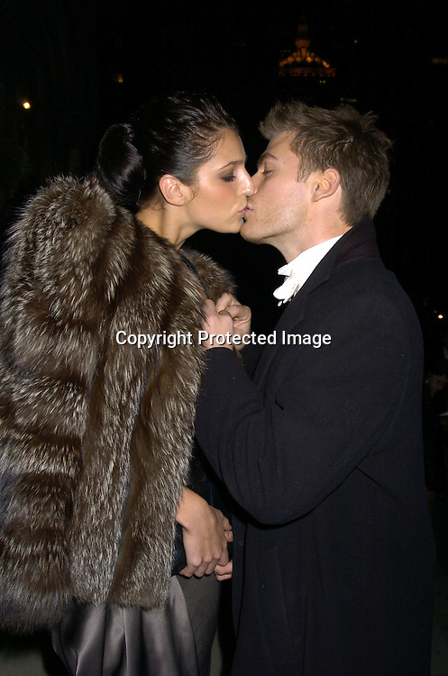 Jeff Branson and Jessica Atkins..at the Wedding of Star Jones and Al Reynolds on November 13, 2004 at St Barts Church in New York City. ..Photo by Robin Platzer, Twin Images