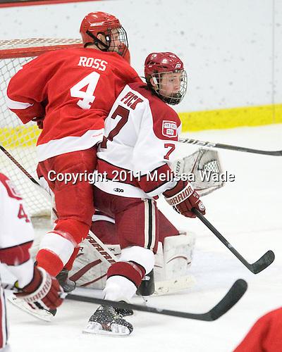 Keir Ross (Cornell - 4), Danny Fick (Harvard - 7) - The visiting Cornell University Big Red defeated the Harvard University Crimson 2-1 on Saturday, January 29, 2011, at Bright Hockey Center in Cambridge, Massachusetts.