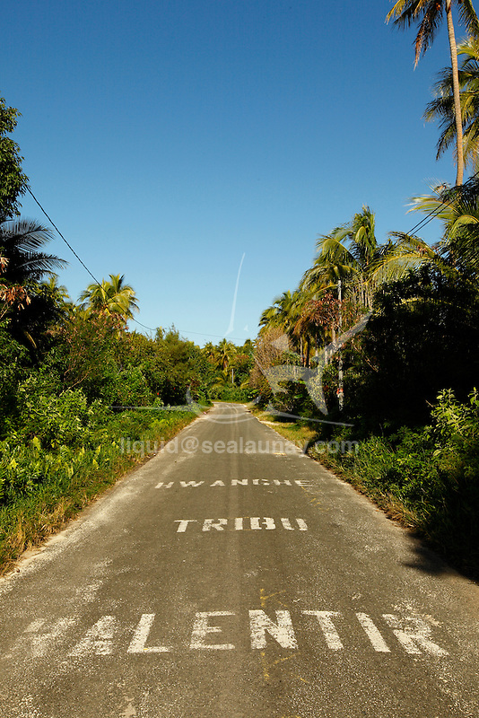 """Entrance of the Hwanghe Tribe on the ouvea island in the Loyalty islands..Ouvéa (local pronunciation: [u've.a]) is a commune in the Loyalty Islands Province of New Caledonia, an overseas territory of France in the Pacific Ocean. The settlement of Fayaoué [fa'jawe], on Ouvéa Island, is the administrative centre of the commune of Ouvéa..Ouvéa is made up of Ouvéa Island, the smaller Mouli Island and Faiava Island, and several islets around these three islands. All these lie among the Loyalty Islands, to the northeast of New Caledonia's mainland..Ouvéa Island is one of the Loyalty Islands, in the archipelago of New Caledonia, an overseas territory of France in the Pacific Ocean. The island is part of the commune (municipality) of Ouvéa, in the Islands Province of New Caledonia..The crescent-shaped island, which belongs to a larger atoll, is 50 km (30 miles) long and 7 km (4.5 miles) wide. It lies northeast of Grande Terre, New Caledonia's mainland..Ouvéa is home to around 3,000 people that are organized into tribes divided into Polenesian, Melanesian and Walisian by ethnic descend. The Iaai language is spoken on the island..The two native languages of Ouvéa are the Melanesian Iaai and the Polynesian Faga Uvea, which is the only Polynesian language that has taken root in New Caledonia. Speakers of Faga Uvea have fully integrated into the Kanak society, and consider themselves Kanak..Ouvéa has rich marine resources and is home to many sea turtles, species of fish, coral as well as a native parrot, the Uvea Parakeet, that can only be found on the island of Ouvéa..A large crustacaen called a """"coconut crab"""" or crabe de cocotier can also be found on the islands. The large crabs live in palm tree plantations and live solely on a diet of coconuts that they crack open with their powerful claws. They are blue in colour and can grow to several kilos in size. They are a land based species and do not venture into the ocean..Ouvéa is also home to trophy Bonefish that inhabit the nutr"""