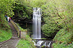 The famous Glencar waterfall, Leitrim, Ireland, as mentioned in the poem by William Butler Yeats, The Stolen Child