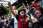 © Joel Goodman - 07973 332324 . 17/05/2015 .  Old Trafford , Manchester , UK . Mcr Utd go 1 goal ahead . 1-0 . Manchester Utd vs Arsenal at Old Trafford Football Stadium , Manchester . Photo credit : Joel Goodman