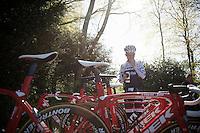 Riccardo Zoidl (AUT/Trek-Segafredo) before the  first pre-Giro training ride with Team Trek-Segafredo in Gelderland (The Netherlands)<br /> <br /> 99th Giro d'Italia 2016