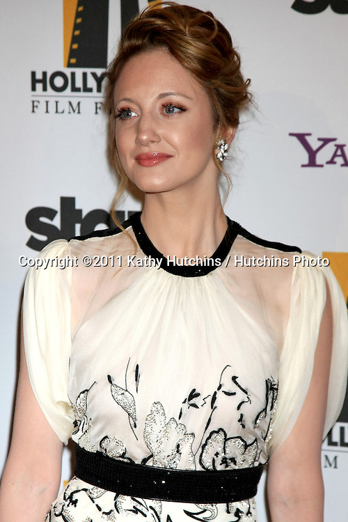 LOS ANGELES - OCT 24:  Andrea Riseborough arriving at the 15th Annual Hollywood Film Awards Gala at Beverly Hilton Hotel on October 24, 2011 in Beverly Hllls, CA