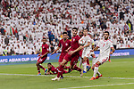 Karim Boudiaf of Qatar (C) in action during the AFC Asian Cup UAE 2019 Semi Finals match between Qatar (QAT) and United Arab Emirates (UAE) at Mohammed Bin Zaied Stadium  on 29 January 2019 in Abu Dhabi, United Arab Emirates. Photo by Marcio Rodrigo Machado / Power Sport Images