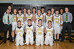December 19, 2017- Tuscola, IL- The 2017-2018 Tuscola Hornet 7th Grade Boys Basketball team. Standing alternating from left are coach Dustin Dees, coach Morgan Athey, Thomas Brown, Patrick Pierce, Dalton Eads, Dylan Homann, Haven Hatfield, Preston Brown, Jalen Quinn, Rajan Patel, John Hegarty, Landon Banta, Peyton Armstrong and coach Conner Plotner. Kneeling from left are James Parsley, Caden Baer, Riley Nolan, and Spencer Thaxton. [Photo: Douglas Cottle]