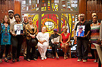 The Jazz In Sync Photo Project organized by photographer Tony Graves drew many jazz musicians to the famed Bethany Baptist Church in Newark, NJ for a group photo.