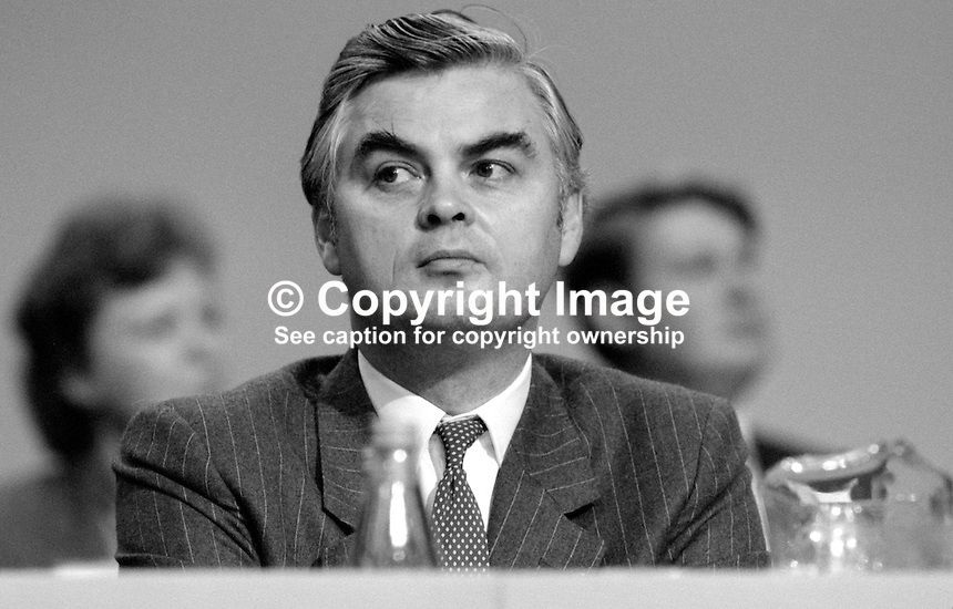Norman Lamont, MP, Conservative Party, UK, Secretary of State for Trade &amp; Industry, 19840145NL2.<br />