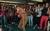 Stromae, Belgian singer performs in the subway in Montreal - Canada
