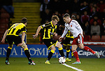 Paul Coutts of Sheffield Utd tackled by Mark Duffy of Burton Albion - English League One - Sheffield Utd vs Burton Albion - Bramall Lane Stadium - Sheffield - England - 1st March 2016 - Pic Simon Bellis/Sportimage
