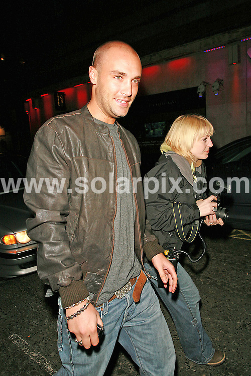 **ALL ROUND PICTURES FROM SOLARPIX.COM**.Working as part of the paparazzi team for the new celebrity reality tv show Deadline, Yvette Fielding is caught by the real London paparazzi photographing Calum Best and Dean Gaffney on 18.04.07.  The celebrities were out for the opening night of the Carbon Club near Marble Arch in the west end of London.  This pic: Calum Best..JOB REF: 3724   GMT   DATE: 18.04.07.**MUST CREDIT SOLARPIX.COM OR DOUBLE FEE WILL BE CHARGED* *UNDER NO CIRCUMSTANCES IS THIS IMAGE TO BE REPRODUCED FOR ANY ONLINE EDITION WITHOUT PRIOR PERMISSION*