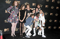 Stranger Things cast at the 2017 MTV Movie &amp; TV Awards at the Shrine Auditorium, Los Angeles, USA 07 May  2017<br /> Picture: Paul Smith/Featureflash/SilverHub 0208 004 5359 sales@silverhubmedia.com