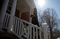 PrimeMinister Trudeau speaks with media outside of Rideau Cottage during his ongoing self-isolation. March 22, 2020.