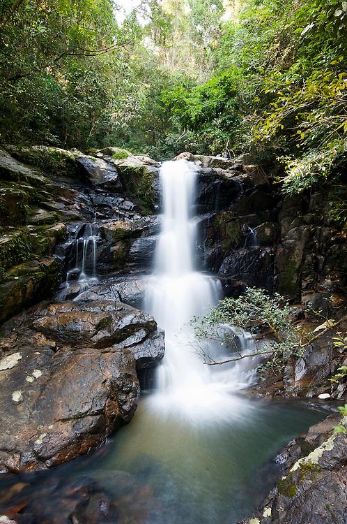 Cachoeira Seca no município de Camboriú, Santa Catarina, Brasil.