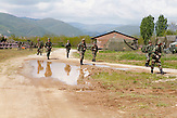 Ein Ausbildungslager der Forca e Sigurisë së Kosovës, FSK, der Sicherheitskräfte der Republik Kosovo. / A training camp of Forca e Kosovës Sigurisë SE, FSK, the security forces of the Republic of Kosovo.