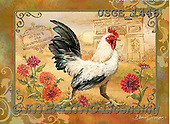 Dona Gelsinger, STILL LIFE STILLLEBEN, NATURALEZA MORTA, flowers, Blumen, flores, paintings+++++,USGE1446,#I#,#F# ,roosters ,autumn,fall