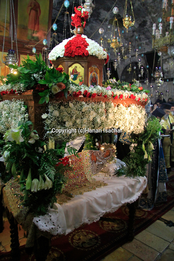 Israel, Jerusalem, Greek Orthodox Feast of the Assumption ceremony at Mary's Tomb
