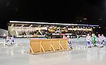 Stockholm 2015-01-16 Bandy Elitserien Hammarby IF - IFK Kung&auml;lv :  <br /> En reklamskylt har bl&aring;st in p&aring; isen under matchen mellan Hammarby IF och IFK Kung&auml;lv <br /> (Foto: Kenta J&ouml;nsson) Nyckelord:  Elitserien Bandy Zinkensdamms IP Zinkensdamm Zinken Hammarby Bajen HIF IFK Kung&auml;lv skylt reklamskylt reklam bl&aring;st bl&aring;ser vind