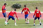 Spain's Diego Costa, Gerard Pique, David Jimenez Silva and Cesar Azpilicueta during training session. March 22,2017.(ALTERPHOTOS/Acero)